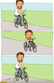 Bike Meme - chuck norris riding bicycle meme broken stick starecat com