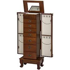 amazon com best choice products wood jewelry armoire cabinet