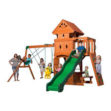 backyard discovery tanglewood all cedar playset the pictures on
