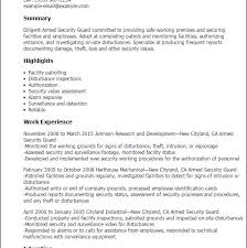 security guard resume sample unforgettable security guard resume