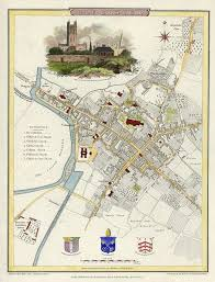 g map file map of gloucester in 1805 engraved by j roper from a drawing