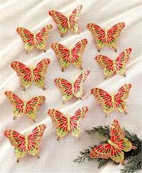 12 sparkling clip on butterfly tree ornaments wreath gift package