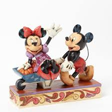 jim shore halloween pumpkins together harvest mickey and minnie figurine