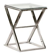X Side Table Wonderful Glass And Chrome Side Table 80 On Attractive Side Tables