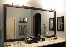 bathroom mirror framing how to diy framing bathroom mirror