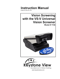 vs v universal manual keystone view vision screeners