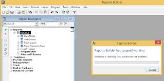 report builder templates oracle reports builder stopped working in windows