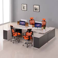 Custom Made Office Furniture by Custom Made Face To Face Partition Workstations 4 People Staff