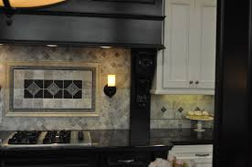 kitchen room unique countertop tile built in cook top idea