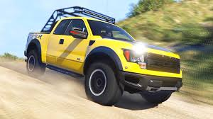 Ford F 150 Yellow Truck - 2012 ford f150 svt raptor gta5 mods com