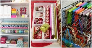 Organize Gift Wrap - 12 smart gift wrap storage ideas