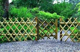 garden fence design ideas with exposed brick wall with garden