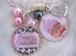 baptism keychain godmother gift photo pendant keychain cheetah print necklace