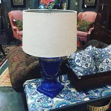 Urn Table Lamp Blue Painted Urn Table Lamp Invio Fine Furniture Consignment