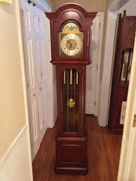 German Grandfather Clocks Vintage Daneker Grandfather Clock Diplomat Model Cherry Case Not