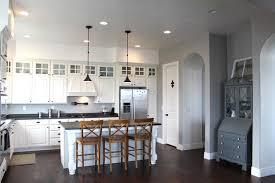 gray wall paint transitional kitchen benjamin moore ozark