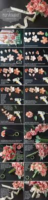 tissue paper flowers printable instructions diy paper rose wedding bouquet
