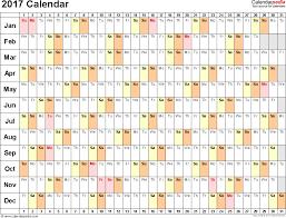 printable calendar 2017 for planner 2017 calendar pdf 17 free printable calendar templates
