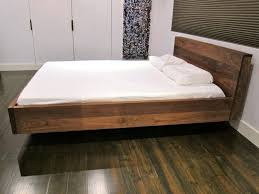 King Size Platform Bed Design Plans by Bed Frames Floating Bed Designs Floating Bed 1 6 Million King