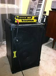how to hook up head and cabinet my mini rig of doom the is the best bass set up i can recommend
