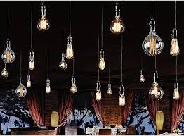 Vintage Light Bulb Pendant Edison Light Chandelier Uk Roselawnlutheran