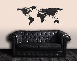 World Map Wall Decal by Vinyl Wall Art Decal Sticker World Map 131