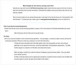 11 microsoft word lesson plan templates free u0026 premium templates