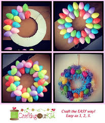 how to make easter wreaths easy easter egg wreath dollar stores easy and 50th