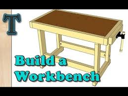 Building Woodworking Bench Build A Cheap Woodworking Workbench Youtube