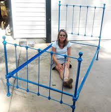 Paint Metal Bed Frame Car Paint The Antique Bed Reveal And Drill