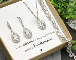 personalized wedding jewelry bridesmaid jewelry etsy