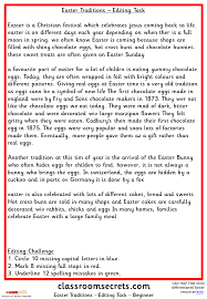 easter traditions editing task classroom secrets