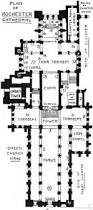 plan rochester cathedral architecture pinterest