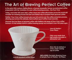 melitta pour over porcelain single cup serving coffee brewer box