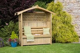 zest 4 leisure hampshire arbour wooden garden seat u0026 storage box
