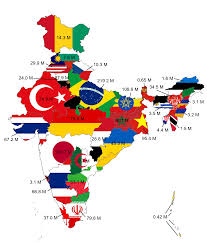 India Map Of States by Map Of India Comparing States To Countries With Similar