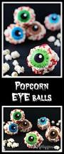 popcorn eyeballs microwave popcorn balls for halloween