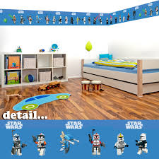 Childrens Bedroom Borders Ireland Lego Star Wars Self Adhesive Decorative Wall Border 5 Metres In