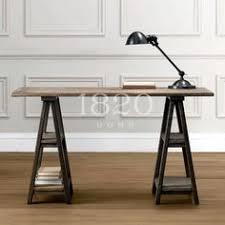 diy sawhorse desks inspired by restoration hardware diy sawhorse