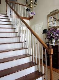 Stripping Paint From Wood Banisters My Foyer Staircase Makeover Reveal In My Own Style