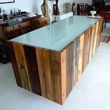 Diy Reclaimed Wood Desk Desk Diy Reclaimed Wood Reception Desk Cherry Wood Reception