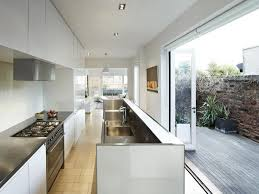 Galley Style Kitchen Designs by Galley Style Kitchen Opening To Deck Desire To Inspire