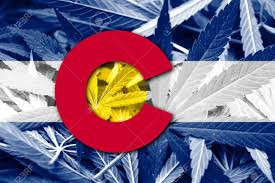 State Flag Of Colorado Colorado State Flag On Cannabis Background Drug Policy