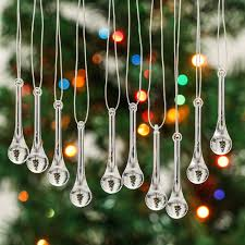 zhyy 20pcs clear acrylic icicle water drop pendant christmas tree