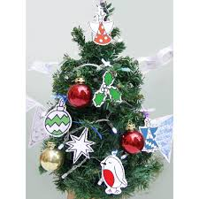 christmas tree decorations tags to colour