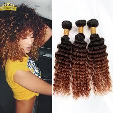 Boheme Hair Extensions by 7a Peruvian Deep Wave 3pcs 100 Ombre Deep Wave Virgin Human Hair