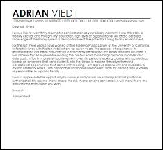 Library Assistant Cover Letter library assistant cover letter sle livecareer