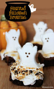 Halloween Cupcakes Ghost Haunted Halloween Ghost Brownies Recipe Halloween Ghosts