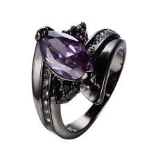black and purple engagement rings best black gold amethyst engagement rings products on wanelo