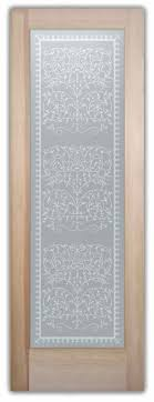 Ornate Interior Doors Lace Decor Interior Etched Glass Doors
